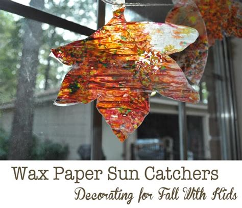 wax paper sun catchers for kids clumsy crafter