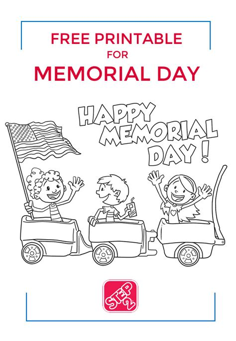 Memorial Day Coloring Pages by Free Memorial Day Coloring Page Step2