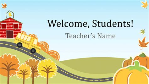 elementary school powerpoint templates education office