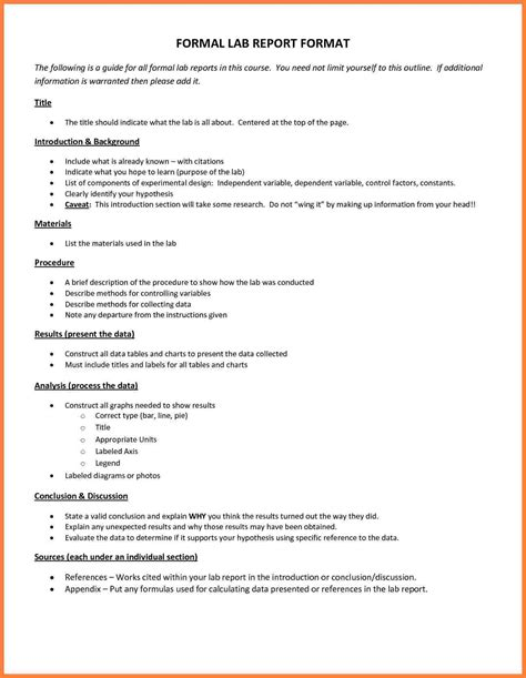 science report template for middle school 7 science lab report template for middle school