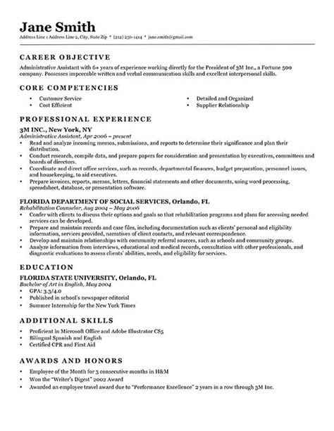 Advanced Resume Templates Resume Genius Classic Resume Template