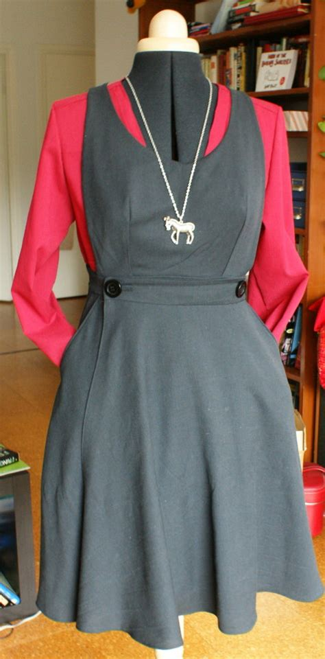 sewing pattern ladies pinafore dress uniform inspired pinafore dress sewing projects