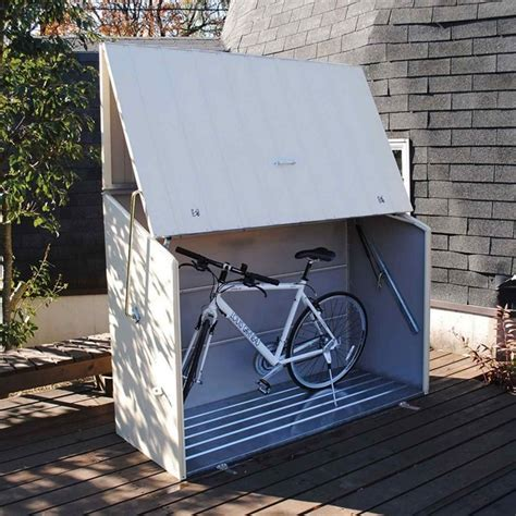Trimetals Bike Shed by Sesame Storage Unit Garden