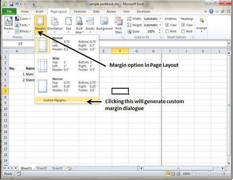 Writing The Best Resume by Adjust Margins In Excel 2010