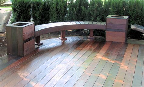 garden bench made from decking 1000 images about deck benches on pinterest deck