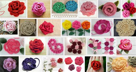 bloem haken patroon gratis patroon roos haken pins van hobby blogo nl pinterest