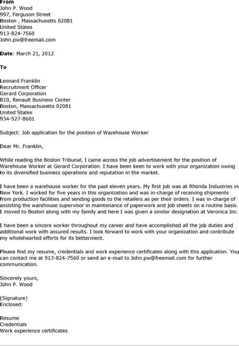 cover letter for warehouse assistant warehouse cover letter whitneyport daily