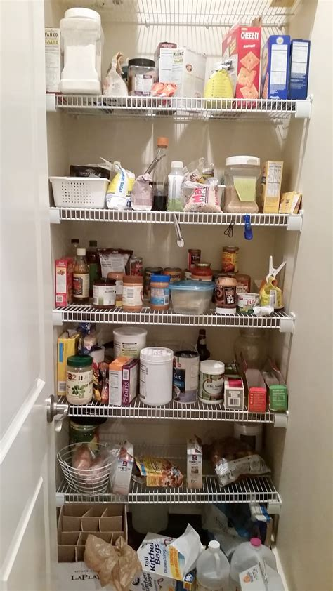 Wire Pantry Shelving by Kitchen Pantry Makeover Replace Wire Shelves With Wrap