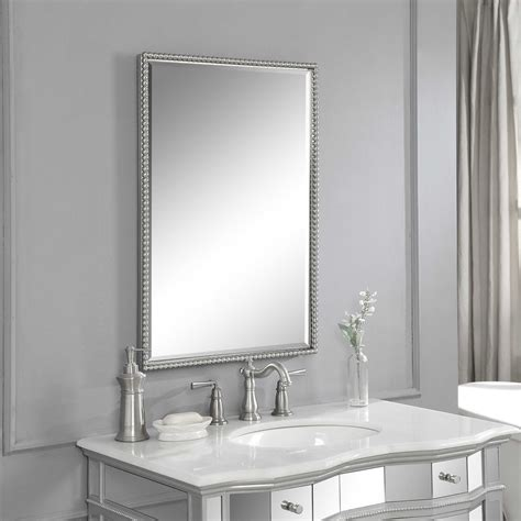 Uttermost Mirros by Uttermost Sherise Brushed Nickel Mirror