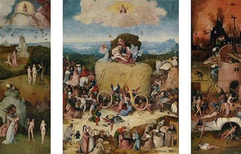 bosch poster set px 3836542978 the haywain triptych prado wikimedia commons