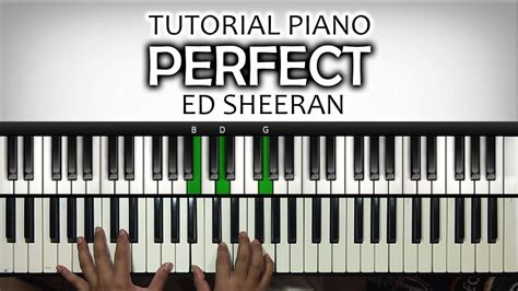 keyboard tutorial ed sheeran tutorial piano mengiringi lagu perfect ed sheeran