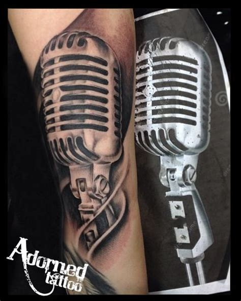 microphone realistic tattoo realistic microphone tattoo by craig bartlett adorned