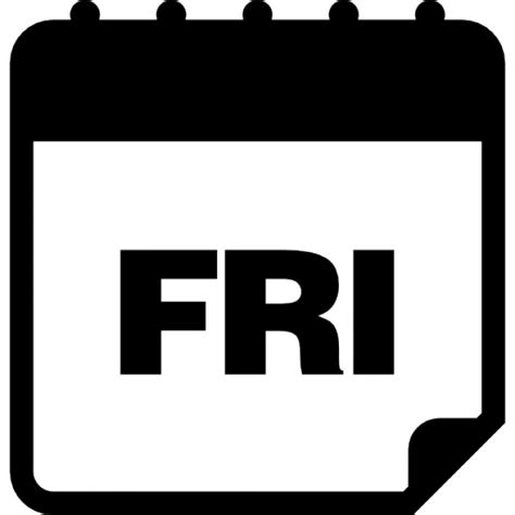 Black Friday Calendar Friday Daily Calendar Page Icons Free
