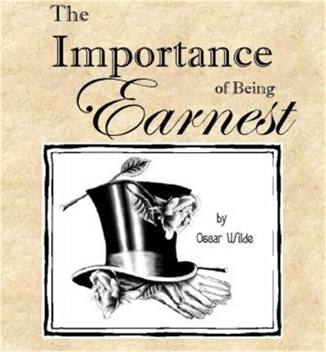 The importance of being earnest closing weekend