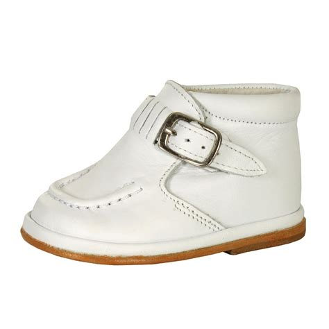 Baby Boot babyshoes fofito baby boys white buckle leather boot white baby boy from designer childrenswear uk