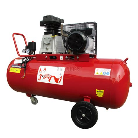 foxhunter 150ltr 3hp electric air compressor 33 gallon 12 6cfm boxed with wheel ebay