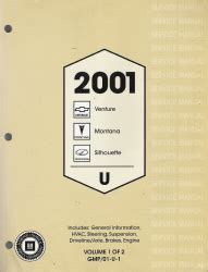 free service manuals online 2001 oldsmobile silhouette electronic valve timing 2001 chevrolet venture pontiac montana and oldsmobile