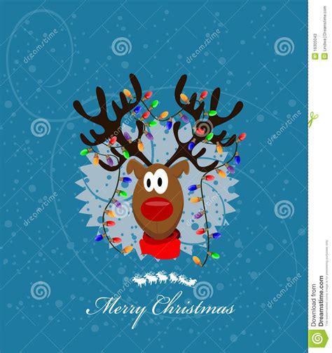imagenes de feliz navidad vaqueras vrolijke kerstkaart met rendier vector illustratie
