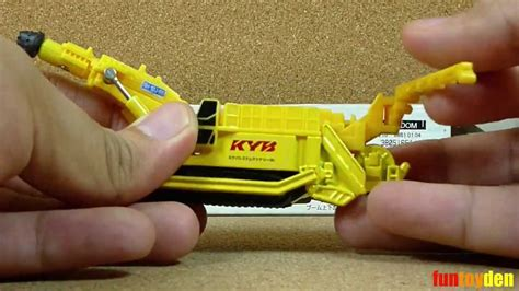 Tomica 132 Kayaba System Machinery Boonheader Rh 10j Ss kayaba system machinery boomheader rh 10j ss takara tomy tomica die cast no 132 11 unboxing