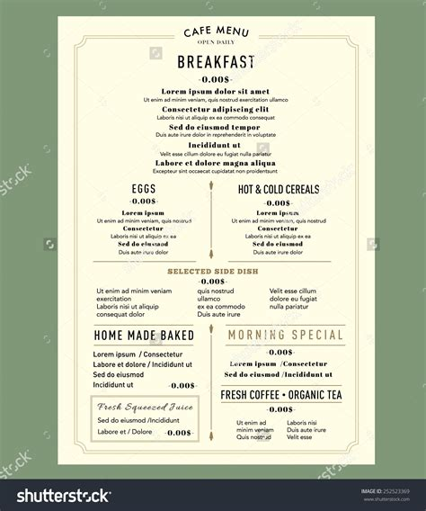 Make Your Own Menu Template My Best Templates Create Your Own Menu Template