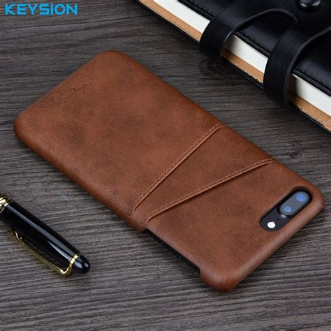 keysion for iphone 8 8 plus 7 7 plus cover leather luxury wallet card slots back capa for