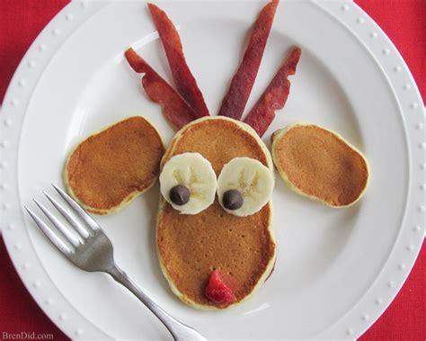 christmas inspired breakfast simple breakfast recipe reindeer pancakes bren did