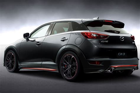 mazda cx3 black mazda to showcase miata cx 3 racing concepts at tokyo
