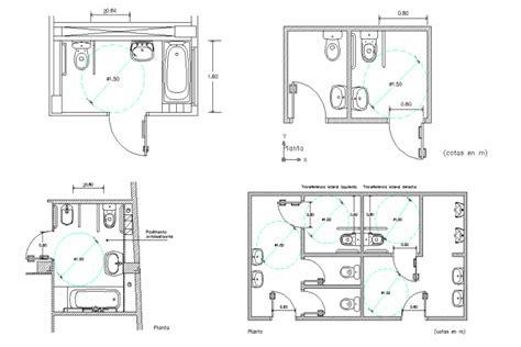 Bloques Cad Autocad Arquitectura Download 2d 3d Dwg Cad Bathroom Design