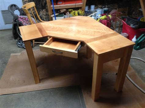 Handcrafted Desk - crafted custom corner desk by black sw furnishings