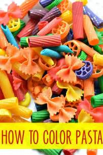 how to color pasta how to dye pasta for projects play box