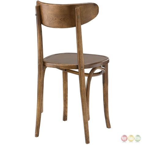 Solid Wood Dining Chairs Skate Contemporary Solid Wood Dining Side Chair With Stylish Design Walnut