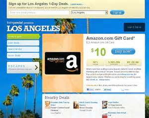 Livingsocial Gift Card - livingsocial sells more than a million 20 amazon gift cards at half price daily