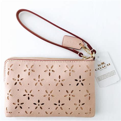 Coach Crossgrain Corner Zip Small Wristlet Purple Origi Berkualitas coach wristlets handbags for sale ny coachoutlet