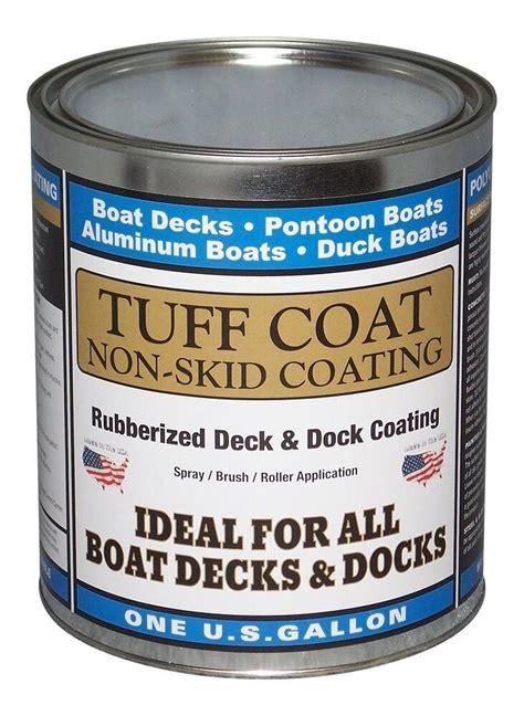 tuff coat diy rubberized  skid boat deck coating kit ebay