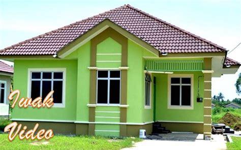 inspirasi cat rumah warna hijau bolu pandan  fasad