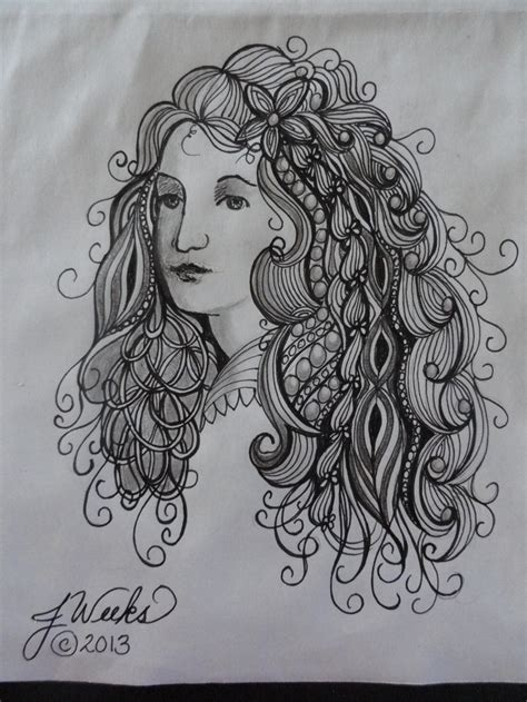 doodle hair do 168 best zentangle hair images on