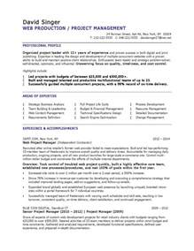 Web Product Manager Sle Resume by Branding Executive Resume