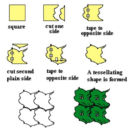 tessellations with shape and space focus on math
