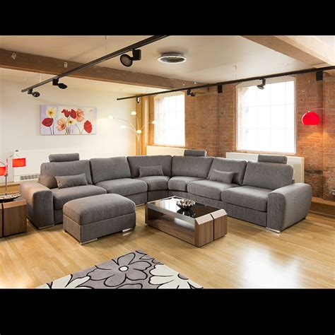 Large L Shaped Sectional Sofas Large Modern L Shape Quality Sofa Settee Corner Grey 21 Ebay