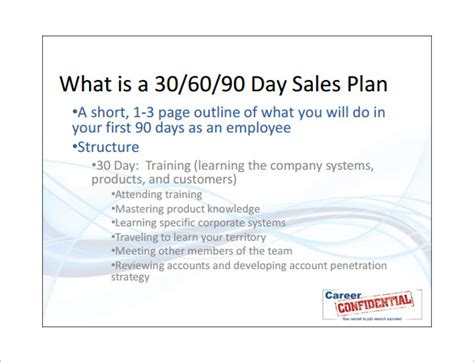 30 60 90 day sales plan template free sales plan template 12 free sle exle