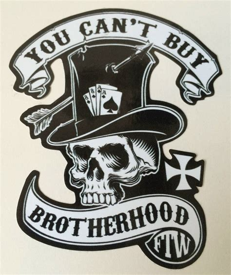 Aufkleber Old School by Biker Bobber Oldschool Sticker Quot Brotherhood Quot Aufkleber