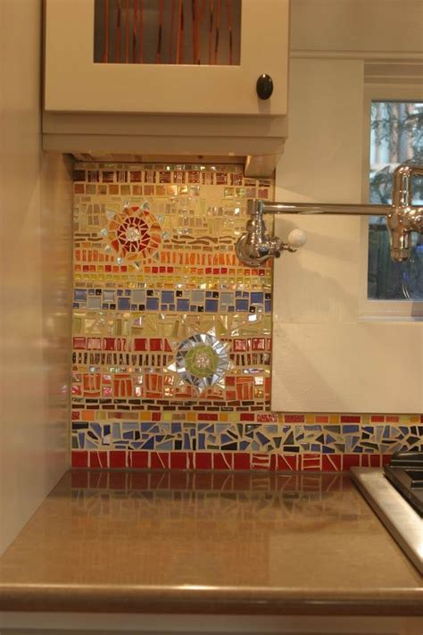 Mosaic Kitchen Tile Backsplash by 18 Gleaming Mosaic Kitchen Backsplash Designs