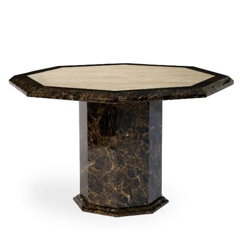 Marble Effect Dining Table Topix Marble Effect Dining Table Octagonal In Brown And