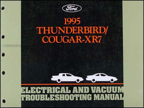 electric and cars manual 1995 ford f series navigation system 1995 ford thunderbird mercury cougar electrical troubleshooting manual