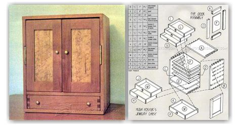 jewelry chest plans woodarchivist