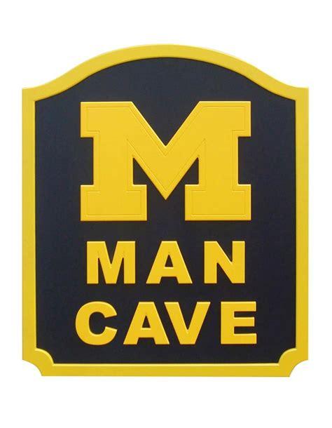 Man Cave Designs Garage michigan wolverines man cave shield