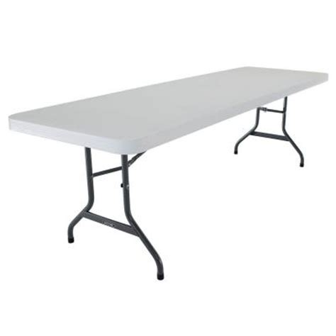 lifetime 8 ft commercial folding table 2980 the home depot
