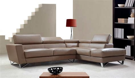 modern beige leather sectional sofa modern bonded leather beige sofa vg761 leather sectionals