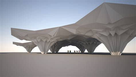 Folding Paper Architecture - folding architecture search restaurant design