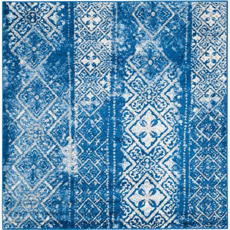 4 x 4 area rugs safavieh adirondack silver blue 4 ft x 4 ft square area rug adr111f 4sq the home depot